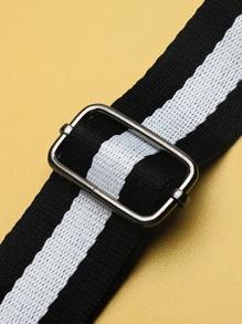77e3cac51c Slogan Detail Bag With Striped Strap | SHEIN UK