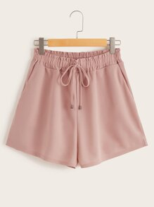Plus Drawstring Waist Shorts