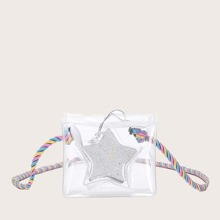 Kids Clear Bag With Glitter Star Shaped Purse (bag190401303) photo