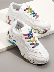Colorful Lace-up Chunky Sneakers