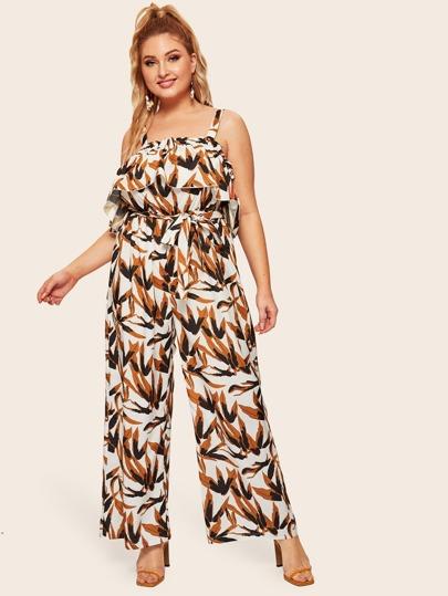 bb05a2b9de28a Women's Plus Size Jumpsuits & Rompers | SHEIN