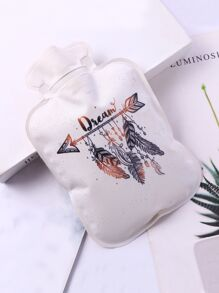 Feather Print Hot Water Bag