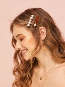 Tortoiseshell & Metal Hairpin 3pack
