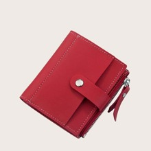 Fold Over Side Zip Purse (bag190402328) photo