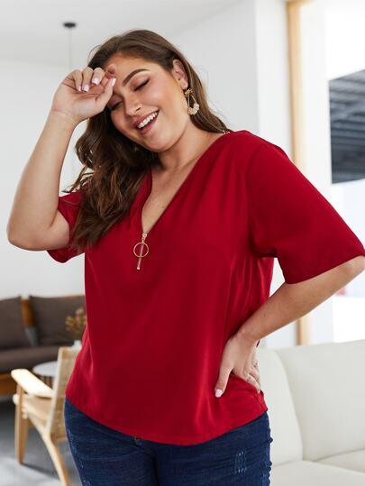 d79cb4d20d0 Women's Plus Size Blouses, Shirts & Tops | SHEIN