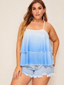 Plus Ombre Tiered Layer Cami Top