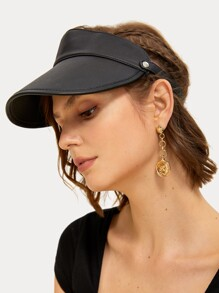 Buckle Detail Sun Visor Hat