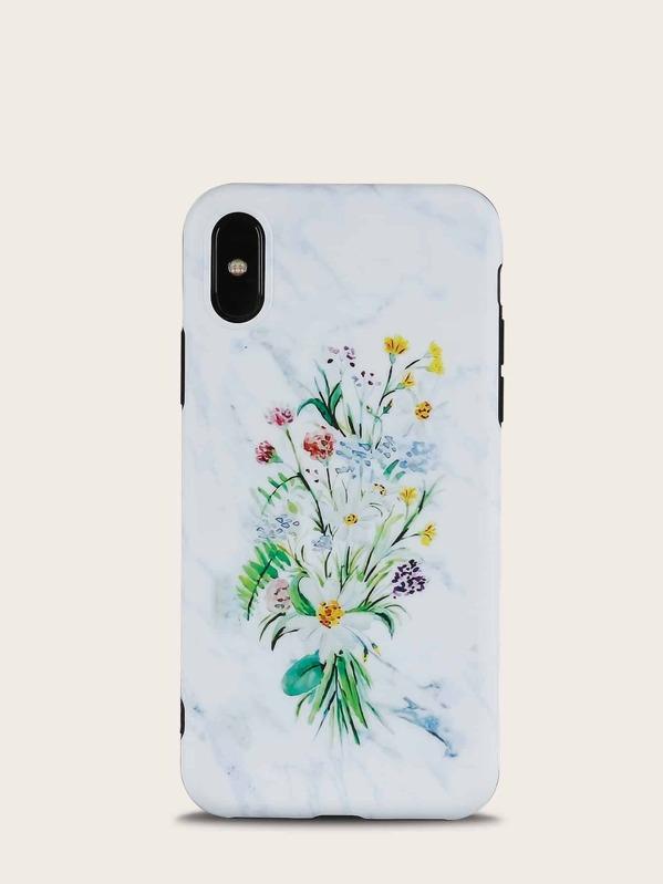 95146d0e14 Cheap Flower Print Marble iPhone Case for sale Australia   SHEIN