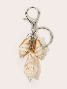 Conch Pendant Keychain With Lobster Clasp
