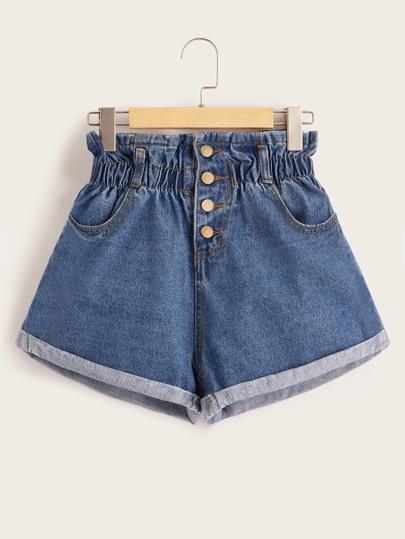 d450dc39d2 Denim Shorts | Denim Shorts Sale Online | ROMWE