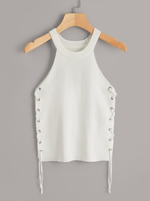 Lace Up Side Tank Top