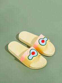 Fruit Detail Open Toe Sliders