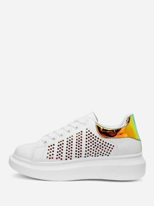 Ombre Lace-up Sneakers