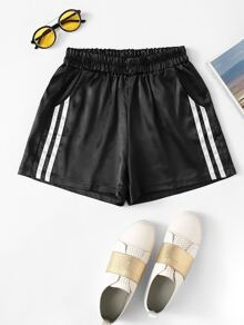 Plus Contrast Taped Side Shorts