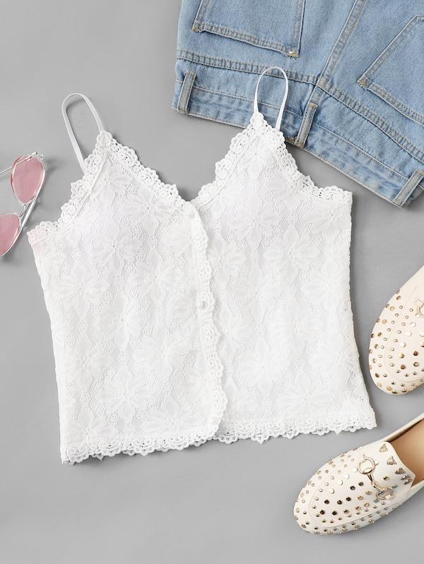 8ca0119dbaa Plus Lace Panel Cami Top