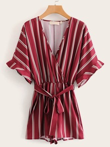 Self Tie Stripe Romper