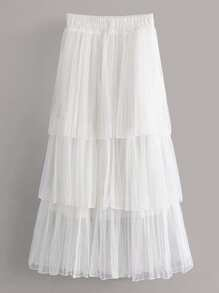 Tiered Layered Tulle Skirt