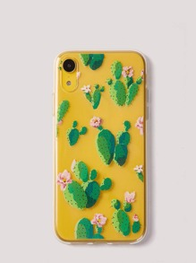 Cactus Print Clear iPhone Case