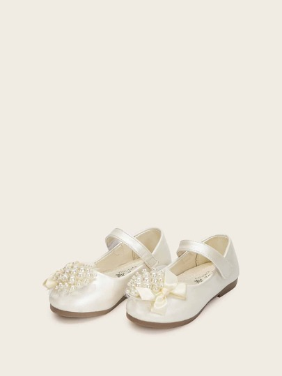 Toddler Pearl Decor Flats