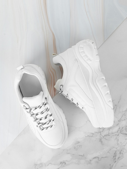 Lace-up Chunky Sneakers