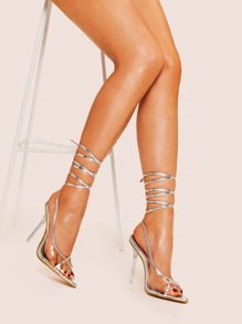 Criss Cross Lace-up Stiletto Heels