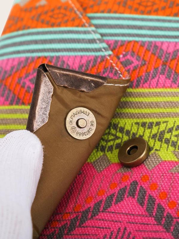 0dee69e7511 Geometric Print Purse With Wristlet | SHEIN IN