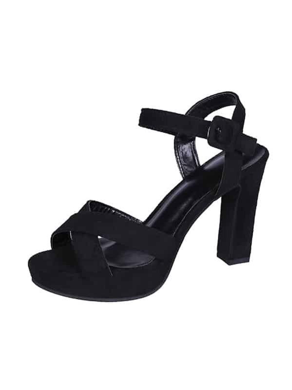 a81074b668310 حذاء مكتنز من جلد الغزال مع اصبع قدم مفتوح