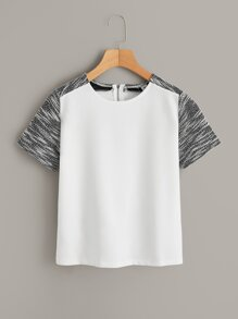 Color Block Zip-back Tee