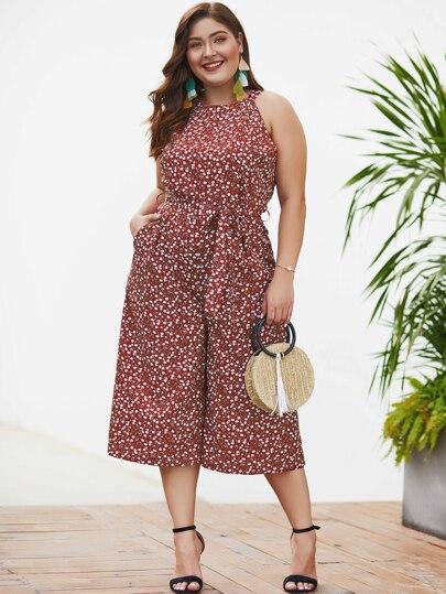 504efd19ccd Plus Size Jumpsuits, Shop Plus Size Jumpsuits Online | SHEIN UK