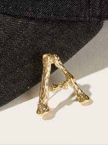 Letter Shaped Brooch 1pc