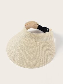 Buckle Detail Straw Paper Visor