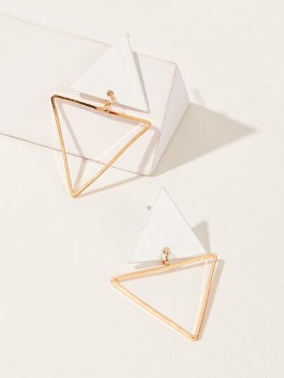 f8201f25f30e Pendientes de tachuela en forma de doble triángulo 1 par