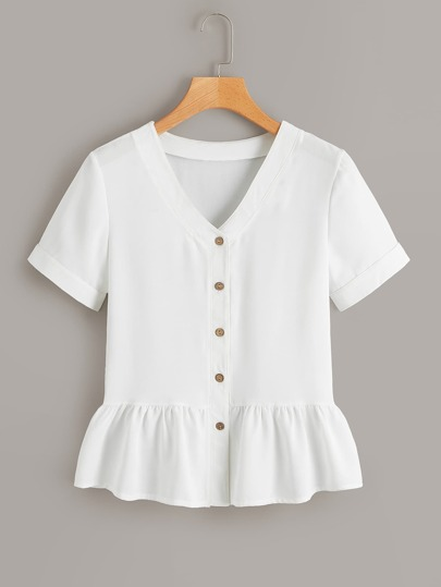 0833238674a Blouses | Women's Blouses & Tops | White,Floral,Lace & More | ROMWE