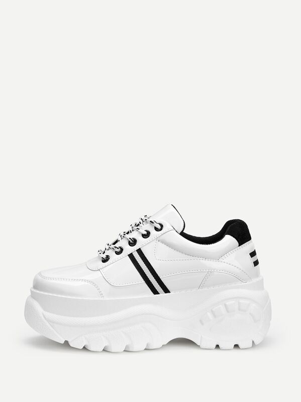 a4406d2c95 Lace-up Chunky Sneakers | SHEIN