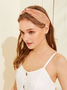 Striped Twist Elastic Headband