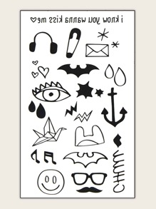 Mix Pattern Tattoo Sticker 1sheet