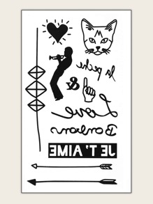 Animal & Figure Tattoo Sticker 1sheet