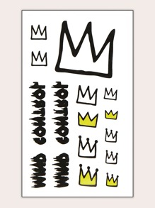 Crown Tattoo Sticker 1sheet