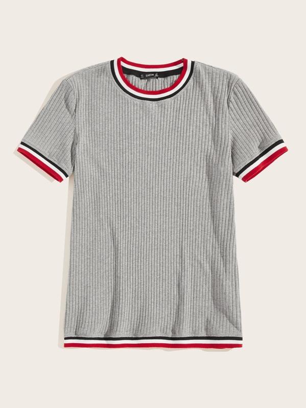 27fcfcb315 Men Striped Rib-knit Tee