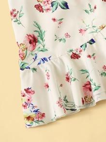 337696622c Ditsy Floral Print Ruffle Hem Dress With Skirt | SHEIN