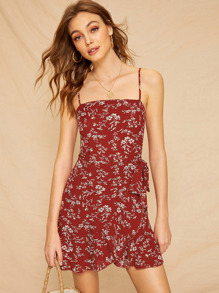 Ditsy Floral Wrap Cami Dress