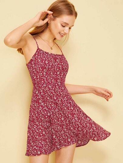5d771f33bdb Ditsy Floral Spaghetti Strap Dress