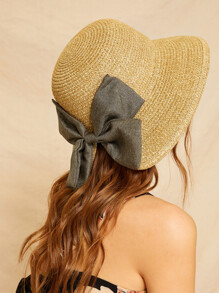 Bow Decor Cloche Hat
