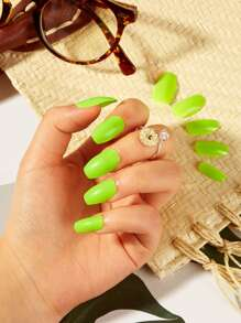 Neon Green Fake Nail & Double Side Tape 25pack