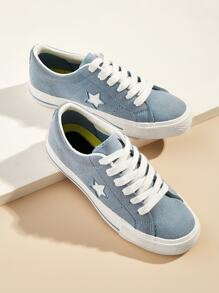 Lace-up Front Suede Sneakers