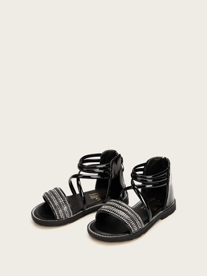 Toddler Criss Cross Ankle Strap Flat Sandals