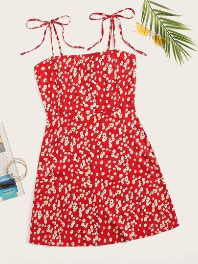 813286f97 Ditsy Floral Shirred Cami Dress
