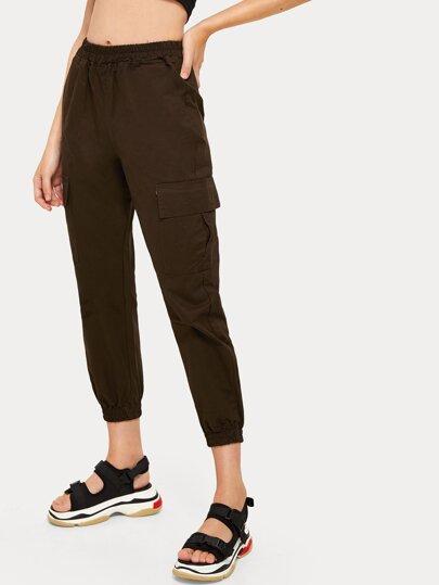 1e4dc3b88845b Pantalon carotte unicolore en jean avec poches