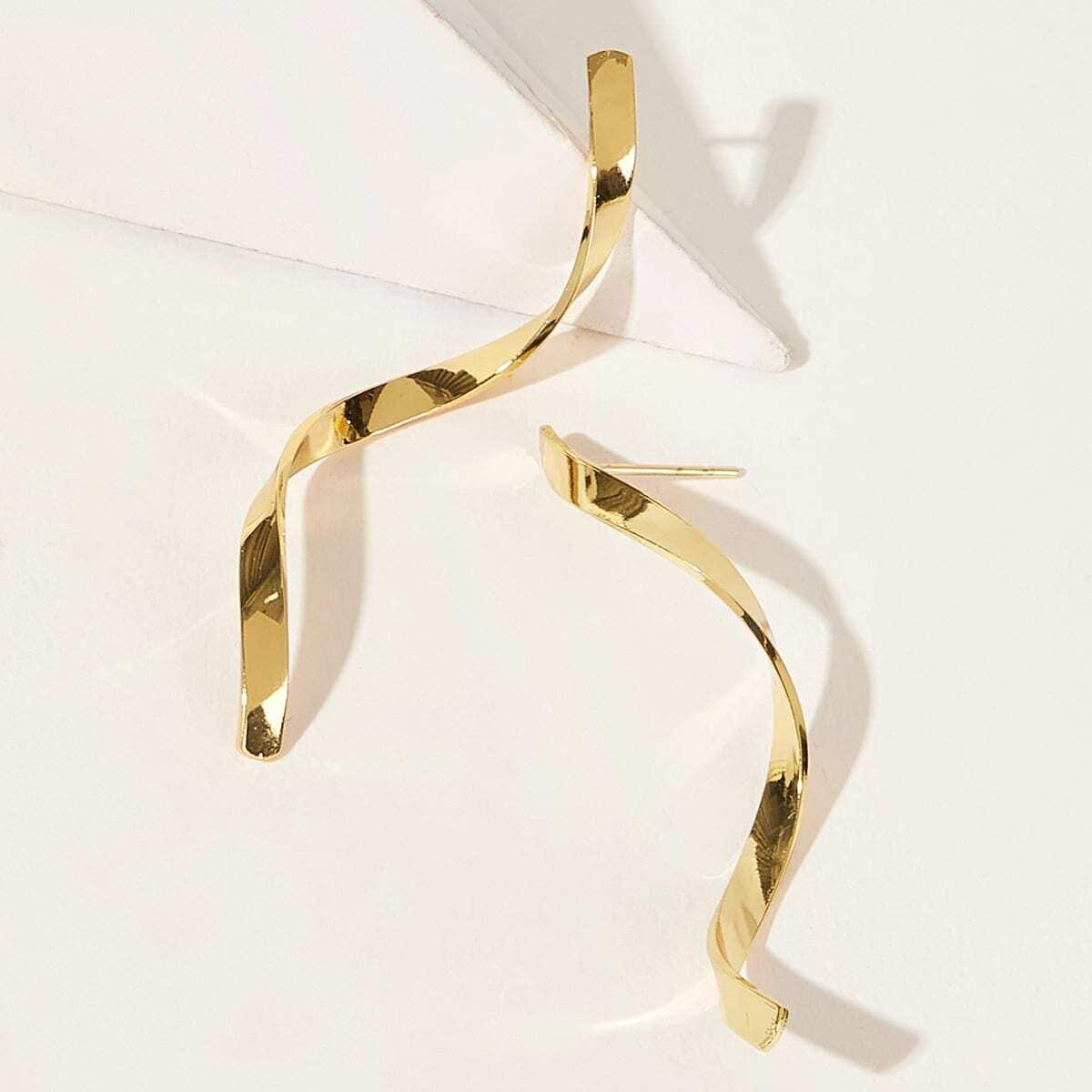 Серьги-гвоздики в форме спирали 1 пара