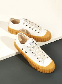 Lace-up Front Rubber Sole Sneakers